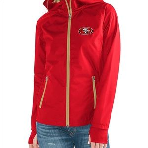 49ers NFL Light Weight Full Zip Jacket